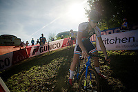 A luxemburg junior rider recons the Cauberg World Cup course