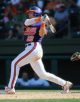 Catcher Spencer Kieboom (22) of the Clemson Tigers in a game against the Michigan State Spartans on Sunday, Feb. 27, 2011, at Fluor Field in Greenville, S.C. Photo by Tom Priddy/Four Seam Images
