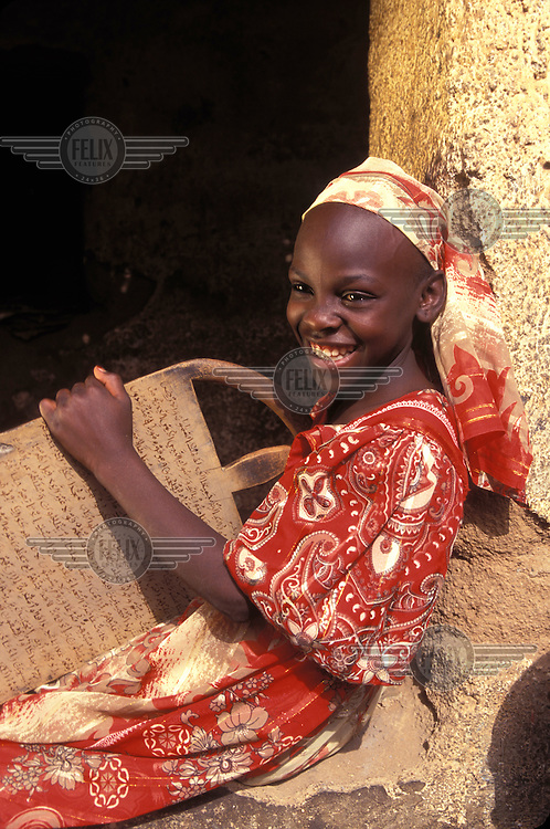 © Giacomo Pirozzi / Panos Pictures..Northern CAMEROON..Community school where children are taught the Koran and Arabic.