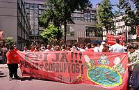 Manifestacão em frente a Sudam contra sua extinção.<br />Belem-Para<br />09.05.2001<br />Foto:Janduari Simões/Interfoto
