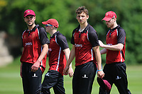 NMCC players leave the pitch having dismssed Hampstead during North Middlesex CC vs Hampstead CC, Middlesex County League Cricket at Park Road on 25th May 2019