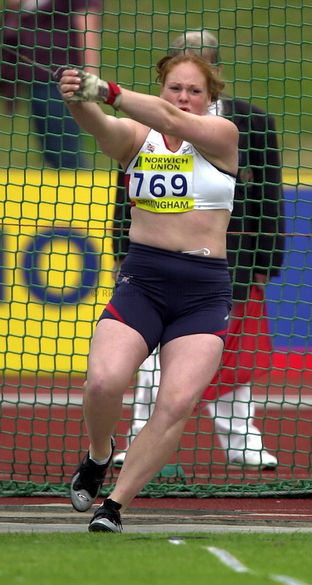 Photo: Richard Lane..Norwich Union World Trials & AAA Championships. 27/07/2003..Shirley Webb.