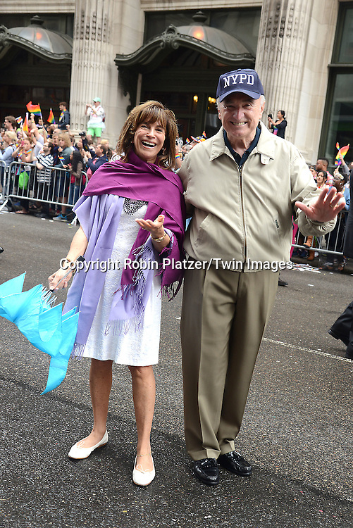 Rikki Klieman and Police Commissioner Bill Bratton attend the 2015 NYC Pride March on June 28, 2015 on Fifth Avenue in New York City. <br /> <br /> photo by Robin Platzer/Twin Images<br />  <br /> phone number 212-935-0770