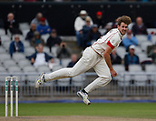7th September 2017, Emirates Old Trafford, Manchester, England; Specsavers County Championship, Division One; Lancashire versus Essex; Tom Bailey of Lancashire bowls in the morning session