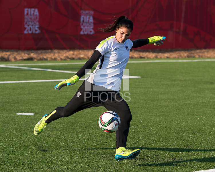 Winnipeg, Canada- June 11, 2015:  The USWNT trained in preparation for their second group game during the FIFA Women's World Cup.