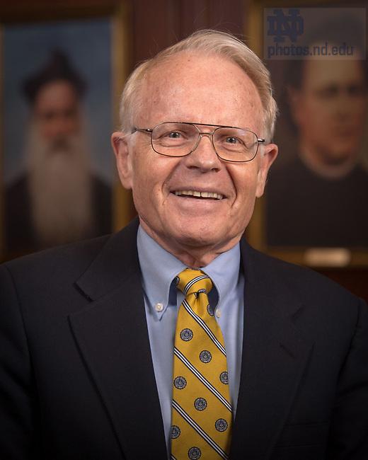 April 12, 2017; Alexander Hahn, Emeritus faculty portrait (Photo by Matt Cashore/University of Notre Dame)