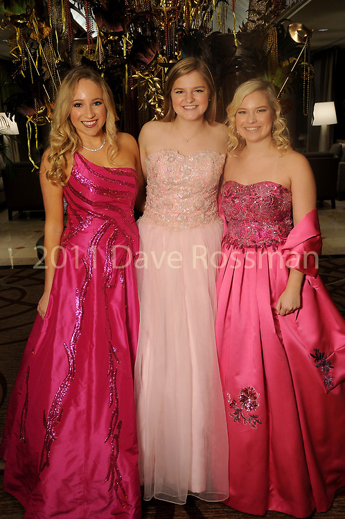 """From left: Quincy Siegel, Paige Raun and Haley Kurisky at the San Luis Salute """"Hollywood Dinner Club"""" in Galveston Friday Feb. 09,2018. (Dave Rossman Photo)"""