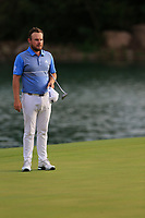 Tyrrell Hatton (ENG) on the 18th green during the 2nd round of the WGC HSBC Champions, Sheshan Golf Club, Shanghai, China. 01/11/2019.<br /> Picture Fran Caffrey / Golffile.ie<br /> <br /> All photo usage must carry mandatory copyright credit (© Golffile   Fran Caffrey)