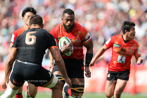Andrew Durutalo (Sunwolves), <br /> APRIL 23, 2016 - Rugby : Super Rugby match between Sunwolves 36-28 Jaguares at Prince Chichibu Memorial Stadium in Tokyo, Japan. (Photo by AFLO SPORT)