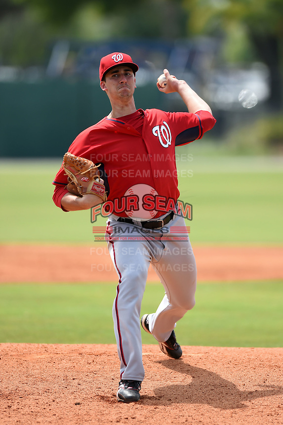Washington Nationals Connor Bach (51) during a minor league spring training game against the Detroit Tigers on March 22, 2015 at Tiger Town in Lakeland, Florida.  (Mike Janes/Four Seam Images)