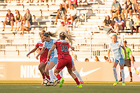 Boyds, MD - Saturday June 03, 2017: Morgan Brian, Kristie Mewis during a regular season National Women's Soccer League (NWSL) match between the Washington Spirit and Houston Dash at Maureen Hendricks Field, Maryland SoccerPlex.