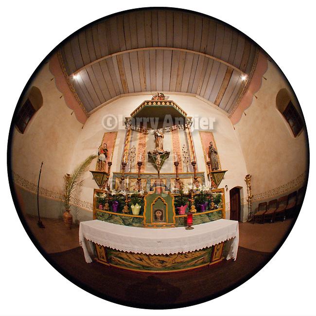 Altar, Mission San Antonio de Padua, California.