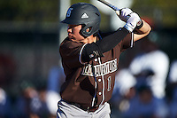 St. Bonaventure Bonnies center fielder Taishi Terashima (1) at bat during a game against the Dartmouth Big Green on February 25, 2017 at North Charlotte Regional Park in Port Charlotte, Florida.  St. Bonaventure defeated Dartmouth 8-7.  (Mike Janes/Four Seam Images)