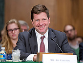 Jay Clayton, of New York, United States President Donald J. Trump's nominee to be a Member of the Securities and Exchange Commission (SEC), testifies during his confirmation hearing before the US Senate Committee on Banking, Housing, and Urban Affairs on Capitol Hill in Washington, DC on Thursday, March 23, 2017.<br /> Credit: Ron Sachs / CNP