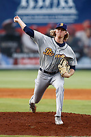 Montgomery Biscuits starting pitcher Sam McWilliams (36) in action against the Chattanooga Lookouts at AT&T Field on May 25, 2018 in Chattanooga, Tennessee. (Andy Mitchell/Four Seam Images)