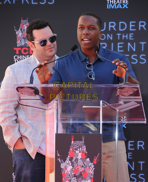 26 October  2017 - Hollywood, California - Josh Gad, Leslie Odom Jr.. Kenneth Branagh Handprint-Footprint in Cement Ceremony held at TCL Chinese Theatre IMAX in Hollywood.  <br /> CAP/ADM/BT<br /> &copy;BT/ADM/Capital Pictures