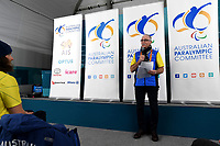 Australian Flag Bearer announcement ceremony / Athletes Village<br /> PyeongChang 2018 Paralympic Games<br /> Australian Paralympic Committee<br /> PyeongChang South Korea<br /> Thursday March 8th 2018<br /> &copy; Sport the library / Jeff Crow