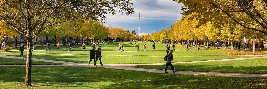 November 2, 2018; South Quad panoramic (Photo by Matt Cashore/University of Notre Dame)