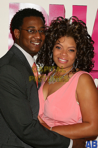 "MARK JERRELL & KENDRA C. JOHNSON.Los Angeles Premiere of ""Phat Girlz"" at Arclight Cinemas, Hollywood, California, USA, 03 April 2006..half length pink coral dress.Ref: ADM/BP.www.capitalpictures.com.sales@capitalpictures.com.©Byron Purvis/AdMedia/Capital Pictures."