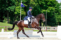 AUS-Andrew Hoy rides Cheeky Calimbo during the CIC3* ERM Dressage. Interim-2nd. 2017 FRA-Haras de Jardy International Eventing Show. Versailles, France. Saturdy 15 July. Copyright Photo: Libby Law Photography
