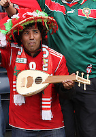 Men's Olympic Football match Honduras v Morocco on 26.7.12...Moroccan fan, during the Honduras v Morocco Men's Olympic Football match at Hampden Park, Glasgow...........