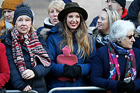 01 December 2017 - A wellwisher holds a hot water bottle as she stands in a crowd waiting to greet Prince Harry and his fiancee US actress Meghan Markle along the route of a walkabout outside the venue Nottingham Contemporary during a visit to Nottingham, Nottinghamshire. Photo Credit: ALPR/AdMedia