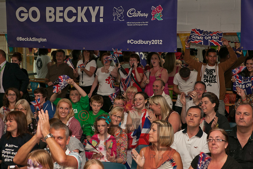 Cadbury, the Official Treat Provider of London 2012, helped the people of Mansfield celebrate Team GB's Bronze medal in the Women's Swimming 800m on Friday August 3rd.