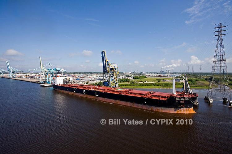 CSL Argosy at JaxPort Blount Island Terminal discharging coal for JEA's (Jacksonville Electric Authority) St. Johns River Power Park