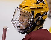 Kyle Okposo (Minnesota 9) takes part in the Gophers' morning skate at the Xcel Energy Center in St. Paul, Minnesota, on Friday, October 12, 2007, during the Ice Breaker Invitational.