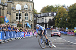 Remco Evenepoel (BEL) in action during the Men Elite Individual Time Trial of the UCI World Championships 2019 running 54km from Northallerton to Harrogate, England. 25th September 2019.<br /> Picture: Eoin Clarke | Cyclefile<br /> <br /> All photos usage must carry mandatory copyright credit (© Cyclefile | Eoin Clarke)