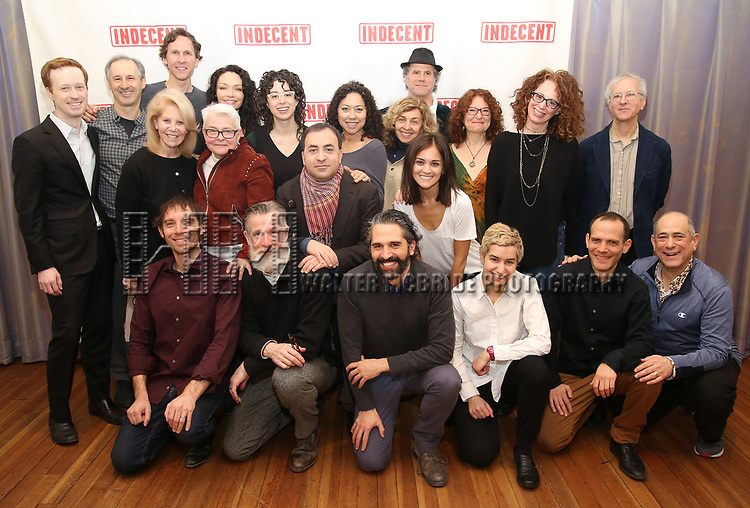"""The cast and creative team with producers attend the """"Indecent"""" Media Day at Playwrights Horizons on March 13, 2017 in New York City."""
