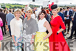 Enjoying Ladies Day at the Listowel Races on Friday were: Catriona Kennedy, Lisa Martin, Frances Harty, Linda O'Brien from Tralee and Castlegregory