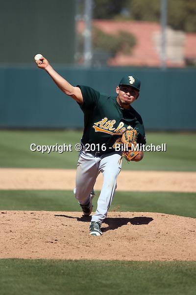 Armando Ruiz - Oakland Athletics 2016 spring training (Bill Mitchell)