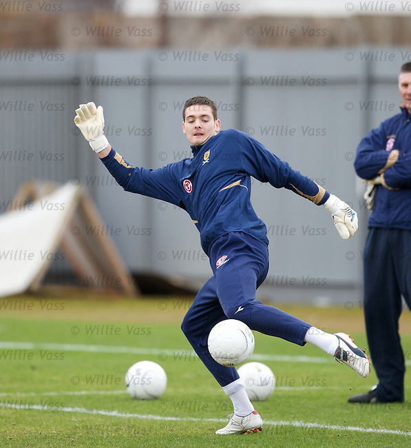 Craig Gordon training for Scotland match in George Burley's first session