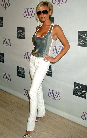 Victoria Beckham attends an instore appearance to launch dVb clothing and accessory line featuring denim and sunglasses created by Victoria Beckham, held at Saks Fifth Avenue, Thursday, June 14, 2007 in New York. <br /> Photo by Dennis Van Tine / MediaPunch