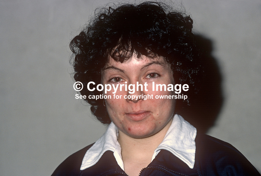 Marjorie Burke, squash player, Irish International, 198101000014MB..Copyright Image from Victor Patterson, 54 Dorchester Park, Belfast, United Kingdom, UK...For my Terms and Conditions of Use go to http://www.victorpatterson.com/Victor_Patterson/Terms_%26_Conditions.html