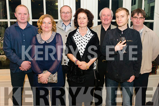 Killarney Camera Club Christmas Party in the Heights Hotel, Killarney last Friday night. l-r Billy Darmody, Lucy Laide, Kalmer Muul, Ille Muul, Tadgh Kelleher, Martin Veskilt and Anthony Kelleher.