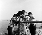 Beatles 1967 George Harrison and John Lennon film Magical Mystery Tour at Newquay