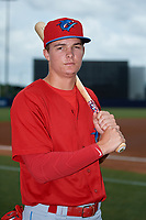 Clearwater Threshers Mickey Moniak (2) poses for a photo before a game against the Tampa Tarpons on April 22, 2018 at George M. Steinbrenner Field in Tampa, Florida.  Clearwater defeated Tampa 2-1 (Mike Janes/Four Seam Images)