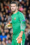Goalkeeper Alisson Becker of AS Roma gestures during the UEFA Champions League 2017-18 quarter-finals (1st leg) match between FC Barcelona and AS Roma at Camp Nou on 05 April 2018 in Barcelona, Spain. Photo by Vicens Gimenez / Power Sport Images