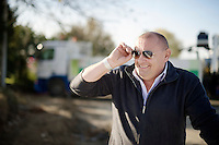 5 time cx world champion Roland Liboton checking out the race<br /> <br /> Jaarmarktcross Niel 2014