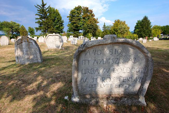Early 19th century grave stone of the  Balatonudvari cemetary - Balaton Hungary