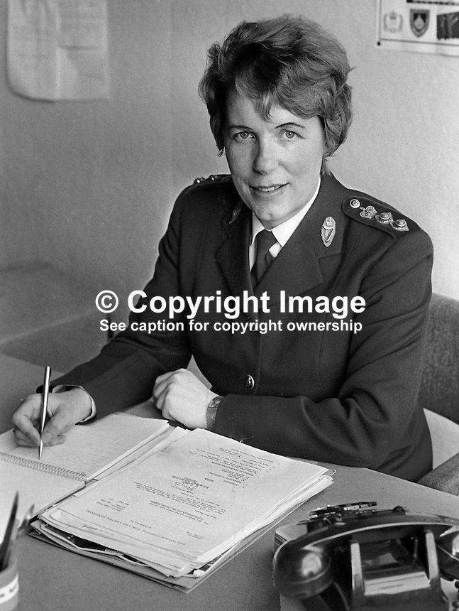 Chief Superintendant Anne Donald, RUC, Royal Ulster Constabulary, N Ireland, 197709000188AD2..Copyright Image from Victor Patterson, 54 Dorchester Park, Belfast, UK, BT9 6RJ..Tel: +44 28 9066 1296.Mob: +44 7802 353836.Voicemail +44 20 8816 7153.Skype: victorpattersonbelfast.Email: victorpatterson@me.com.Email: victorpatterson@ireland.com (back-up)..IMPORTANT: If you wish to use this image or any other of my images please go to www.victorpatterson.com and click on the Terms & Conditions. Then contact me by email or phone with the reference number(s) of the image(s) concerned.