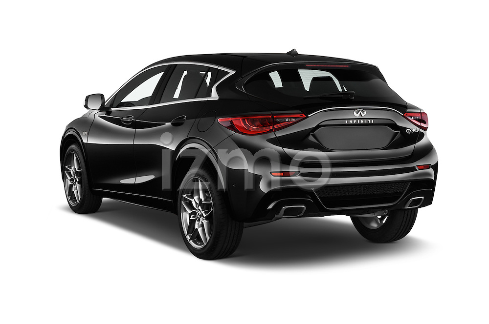 Car pictures of rear three quarter view of 2018 Infiniti QX30 Sport 5 Door SUV Angular Rear