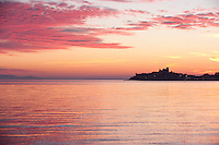 Talamone at sunset, Maremma district of Tuscany, Italy
