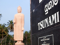 Tsunami Memorial near the town Galle, Sri Lanka