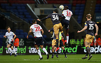 Bolton Wanderers' Sammy Ameobi competing with Sheffield Wednesday's Michael Hector <br /> <br /> Photographer Andrew Kearns/CameraSport<br /> <br /> The EFL Sky Bet Championship - Bolton Wanderers v Sheffield Wednesday - Tuesday 12th March 2019 - University of Bolton Stadium - Bolton<br /> <br /> World Copyright © 2019 CameraSport. All rights reserved. 43 Linden Ave. Countesthorpe. Leicester. England. LE8 5PG - Tel: +44 (0) 116 277 4147 - admin@camerasport.com - www.camerasport.com