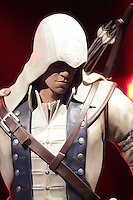 October 30 2012 - Montreal, Quebec, CANADA -  UBISOFT press conference announcing an important partnership with professional goaltender Carey Price.  <br /> IN PHOTO : statue of Assassin's Creed III main caracter