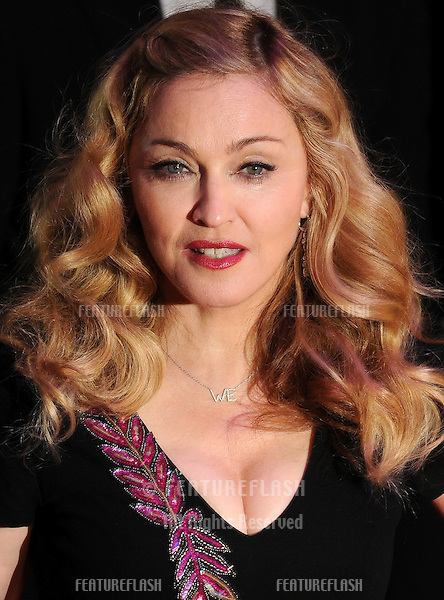 Madonna attends The BFI London Film Festival: W.E. - Premiere .at Empire Leicester Square, London. 23/10/2011  Picture by: Gerry Copper / Featureflash..
