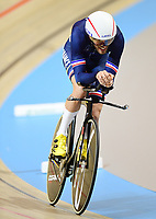 Picture by Alex Broadway/SWpix.com - 02/03/2018 - Cycling - 2018 UCI Track Cycling World Championships, Day 3 - Omnisport, Apeldoorn, Netherlands - Louis Pijourlet of France competes in the Men's Individual Pursuit Qualifying.
